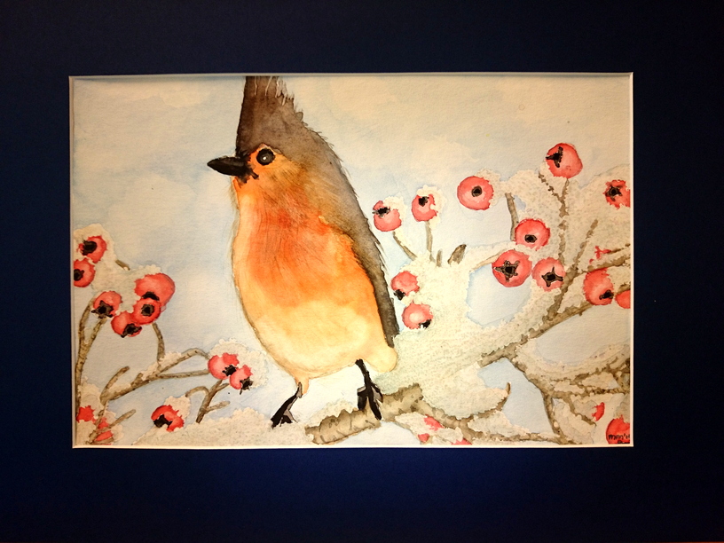 Aquarel vogel