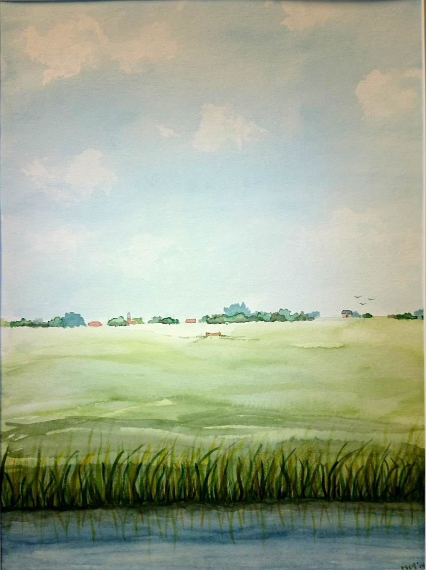 Aquarel landschap